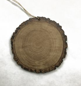 Faux Wood Slice Ornament  (WOOD)